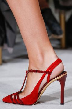 Oscar de la Renta - New York Fashion Week / Spring 2016 #heels #shoes
