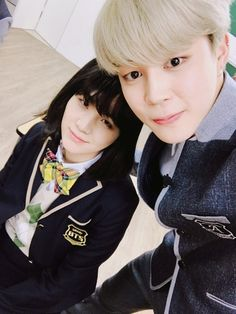 Jimin and Suga ❤ [BTS Trans Tweet] 민윤지 #JIMIN / Min Yoonji #JIMIN (YOONMIN SELFIE BOI! YAS! yoonJIMIN! Yoongi as a girl *wipes tear* nEVER FORGET) #BTS #방탄소년단