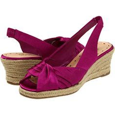 Wedges meet satin shoes.  I think I actually like this idea.