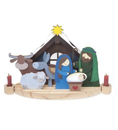 Magic Cabin Paint-Your-Own Nativity Craft Kits from Magic Cabin on shop.CatalogSpree.com, your personal digital mall.