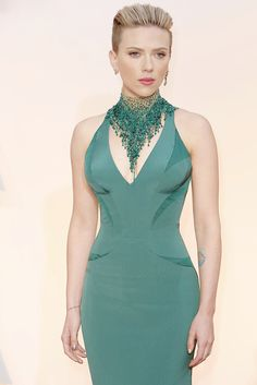 Scarlett Johansson attends 87th Annual Oscars
