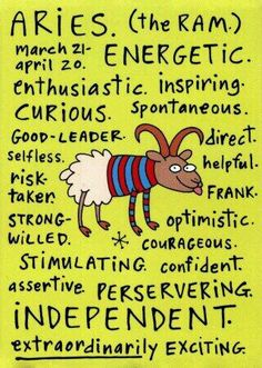 Adjectives for Aries
