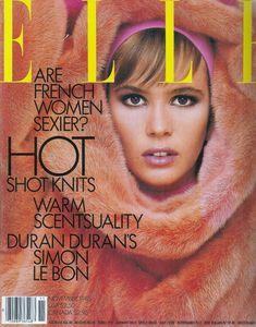 Elle Macpherson by Gilles Bensimon for Elle US, November 1985 Elle Macpherson, Elle Magazine, Verona, Best Fashion Magazines, Fashion Magazine Cover, Magazine Covers, Elle Us, Simon Le Bon, Vogue Spain