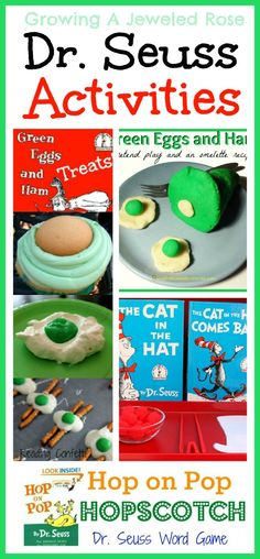 TONS of Dr. Seuss activities for kids!  Includes games, treats, math, pretend play, Montessori, & more!