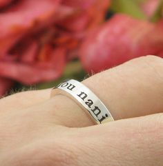 Sterling Silver Ring  THICK BAND Posey Ring  by KathrynRiechert, $45.00 (size6)