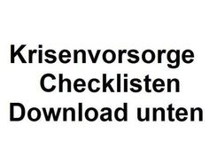 Krisenvorsorge Checkliste zum Ausdrucken