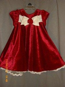 Red Velvet & Lace Christmas Holiday Dress Toddler