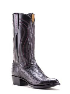 Mens Lucchese Black Derby Calf Boots M1609.R4 - Texas Boot Company is located in Bastrop, Texas. www.texasbootcompany.com