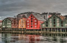 Trondheim, Norway, Architecture, Bridge, Colorful