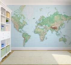 Incredible world map wallpaper designs create an impressive impact in your home. Inspire your travels with our range of world map wallpaper mural designs. Küchen Design, House Design, Interior Design, Fantastic Wallpapers, World Map Wallpaper, Office Wallpaper, Map Projects, Wall Maps, Boy Room