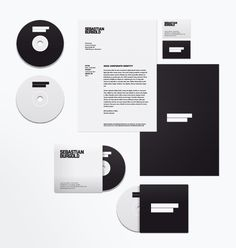 Visual identity / Sebastian Burgold by Rene Bieder, via Behance