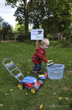 Really cute Lawnmower Party Ideas.