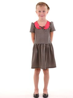 36e61f30579 Hum Stitchery Kids Clothing · The Ida- Houndstooth Knitted Fabric