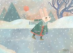 Illustration portfolio, paintings, and books of American Illustrator and Author, Rebecca Green. Winter Illustration, Children's Book Illustration, Gouache Tutorial, Rebecca Green, I Love Winter, Freelance Illustrator, Illustrations, Stop Motion, Home Art