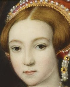 What a beautiful face! Miniature of Princess Elizabeth, later Elizabeth I, by William Essex