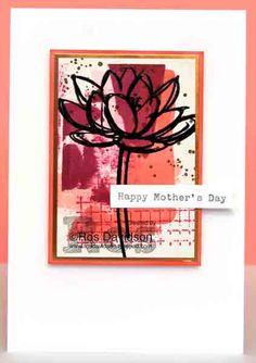 Stampin' Up!, mothers day card, remarkable you, work of art, gorgeous grunge, timeless textures, heat embossing