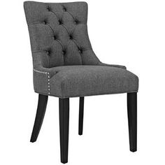 Upholstery Chair – Modway Regent Modern Elegant Button-Tufted Upholstered Fabric Dining Side Chair with Nailhead Trim in… Parsons Dining Chairs, Fabric Dining Chairs, Solid Wood Dining Chairs, Chair Fabric, Upholstered Dining Chairs, Dining Chair Set, Dining Furniture, Furniture Ideas, Dining Sets