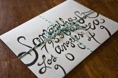 Molly Jacques calligraphy.
