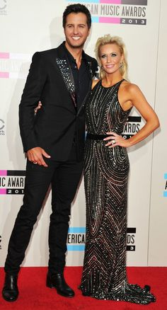 Luke Bryan Caroline Boyer at the 2013 AMAs