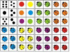 * Matrix: Lieveheersbeestjes! Combineer de kleur van het beestje met het aantal stippen op de rug. 1-2