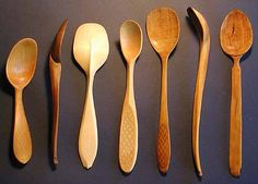 Some fantastic hand carved spoons by Del Stubbs