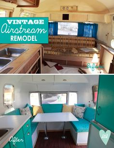 The most amazing vintage Airstream trailer fix up! Love this.