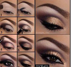 Smokey Eye Makeup Steps as Makeup Revolution Chocolate until Smokey Eye Tutorial Jamie Genevieve Gold Eye Makeup, Eye Makeup Steps, Natural Eye Makeup, Makeup For Brown Eyes, Smokey Eye Makeup, Makeup Eyeshadow, Applying Eyeshadow, Easy Eyeshadow, Eyeshadow Guide