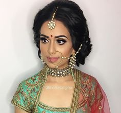 Punjabi Bride, Bridal Makeup, Wedding Jewelry, Nose Rings, Jewellery, Face, Outfits, Dresses, Ideas