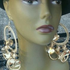 Large Fashioned Dangle Earrings Nwot Over size Dangle Rope Designed Women Earrings. If you want to make an statement heres your chance. Jewelry Earrings