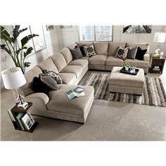 GARDINERu0027S $2808 Katisha   Platinum 5 Piece Sectional Sofa With Left Chaise