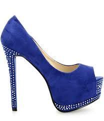 scarpa blu con tacco
