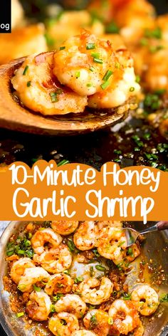 Scrumptiously Sticky Honey Garlic Shrimp Recipe made in just 10 minutes are here to please your seafood cravings. Scrumptiously Sticky Honey Garlic Shrimp Recipe made in just 10 minutes are here to please your seafood cravings. Shrimp Recipes For Dinner, Shrimp Recipes Easy, Seafood Dinner, Easy Dinner Recipes, Easy Meals, Sauted Shrimp Recipes, Health Shrimp Recipes, Healthy Seafood Recipes, Keto Shrimp Recipes