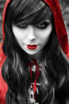 The Red Project..Red riding hood goes goth :)...by amanda hughes