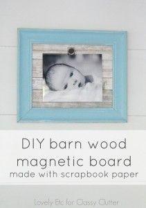 DIY Barn Wood Magnetic Board