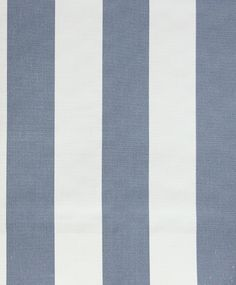 Baron Lake Stripe Fabric A good weight cotton stripe in grey blue and off white, suitable for upholstery.