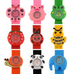 Brilliant Hot Sale Fashion Kids Watch Cartoon Watch Children Student Silicone Waterproof Quartz Wristwatch Slap Cute Gift Children's Watches