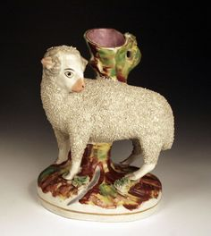staffordshire sheep vase, love it!