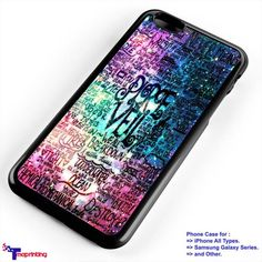pierce the veil quotes - Personalized iPhone 7 Case, iPhone 6/6S Plus, 5 5S SE, 7S Plus, Samsung Galaxy S5 S6 S7 S8 Case, and Other
