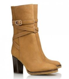 why did it take me so long to buy these boots...gorgeous! thank goodness for eBay. Tory Burch Jaime in Camel.