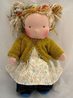 This is the doll that made me want to sew waldorf dolls!  So cute!