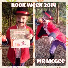 DIY Mr McGee dress up for Bookweek.