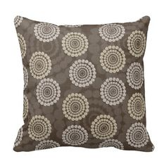 Rustic Rhinestone Circle Pillow