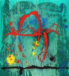 John Hoyland - Jade Lair 5-11-09, 2009, acrylic on canvas, 127 x 114 cm