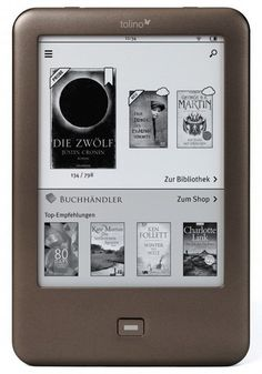 Tolino Shine, ereader in Germany, ebook system to compete against Amazon, Apple