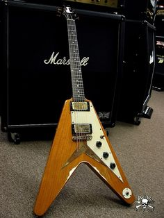 Gibson 1959 Flying V. One of 6 made in 1959 with white plastic. MS - Shared by The Lewis Hamilton Band - https://www.facebook.com/lewishamiltonband/app_2405167945 - www.lewishamiltonmusic.com