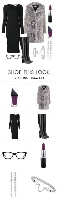"""""""Updated fur and diamonds"""" by pale-readhead ❤ liked on Polyvore featuring GUiSHEM, Karl Lagerfeld, Victoria Beckham, Tom Ford, Ray-Ban, MAC Cosmetics, Anita Ko, Messika and Blue Nile"""