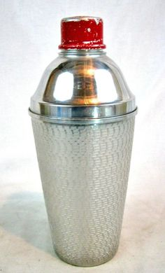 Vintage Art Deco Aluminum Barware Cocktail Shaker