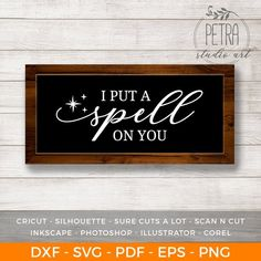 I put a spell on you Halloween Svg Halloween Quotes Fall Svg Home decor svg Wall decor svg Svg cut files Rustic Svg Farmhouse Sign Farmhouse Halloween, Halloween Home Decor, Halloween Projects, Halloween House, Halloween Decorations, Wooden Halloween Signs, Rustic Halloween, Wall Decorations, Halloween 2018