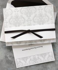 Uitnodiging Idees :  100 for $160 Vintage Brocade Wedding Invitations by TheAmericanWedding.com