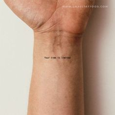 Your Time Is Limited Temporary Tattoo (Set of to make temporary tattoo crafts ink tattoo tattoo diy tattoo stickers Sexy Tattoos, Cute Ankle Tattoos, Dainty Tattoos, Mini Tattoos, Body Art Tattoos, Tatoos, Delicate Feminine Tattoos, Unique Tattoos, Awesome Tattoos